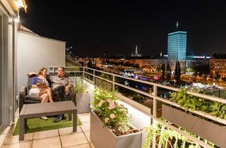 Wohnung mieten in Obere Donaustraße, 1020 Wien, Skyflats Vienna Ring View mit Terrasse