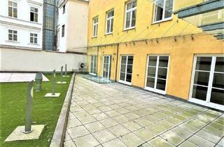 Büro zu mieten in Eßlinggasse, 1010 Wien, ESSLINGGASSE, klimatisiertes 155 m2 Büro - Praxis - Kanzlei mit 41 m2 Terrasse, 3 Räume, Teeküche, Nebenräume, Börse-Nähe